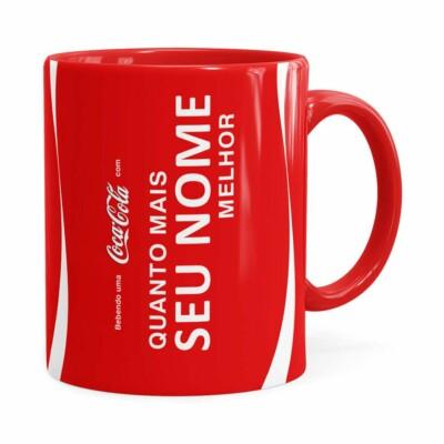 Caneca Personalizada Coca-cola Quanto Mais Vermelha