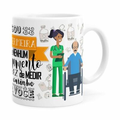 Caneca Personalizada Sou Enfermeira Com Nome Branca