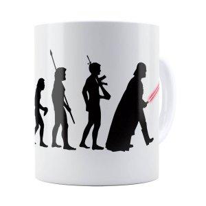 Caneca Star Wars A Evolução De Darth Vader Branca