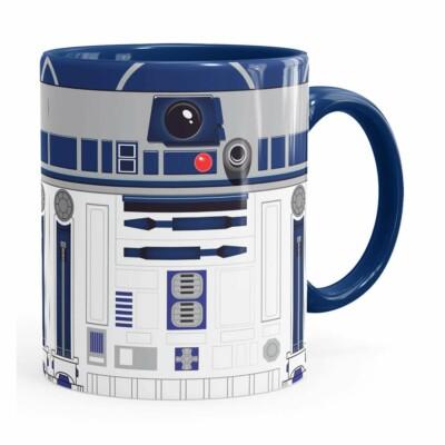 Caneca Star Wars R2-d2 Minimalista Azul Marinho