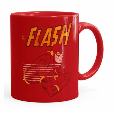 Caneca The Flash V03 Porcelana Vermelha