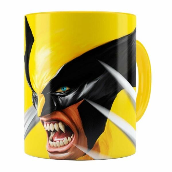 Caneca Wolverine X-Men Amarela