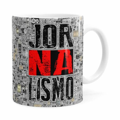 Caneca Jornalismo Black Jornal Branca