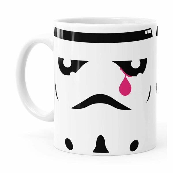 Caneca Star Wars Stormtrooper Face Lágrima Branca