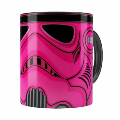 Caneca Star Wars Stormtrooper Pink Preta
