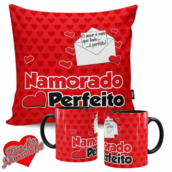 Kit Presente Dia Dos Namorados 2 Canecas V36