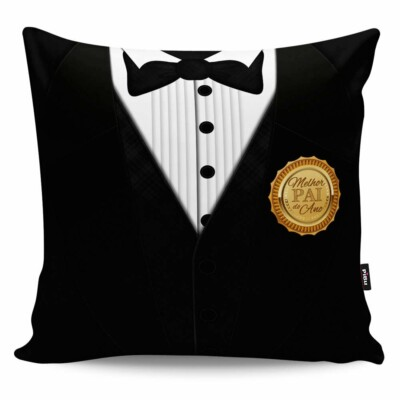 Almofada Black Tie Melhor Pai Do Ano