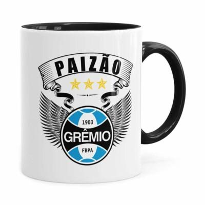 Caneca Personalizada Paizão Grêmio Asas Preta