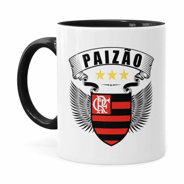 Caneca Personalizada Paizão Flamengo Asas Preta