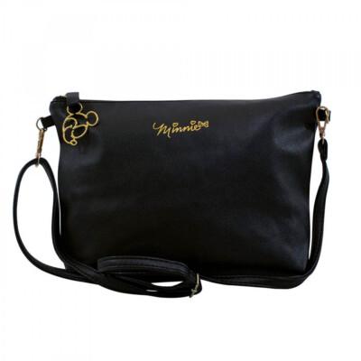 Bolsa Minnie Preta Com Enfeite De Mickey