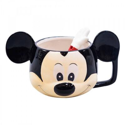 Caneca 3D Mickey Rosto Porcelana 280ml