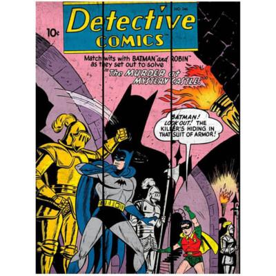 Placa Decorativa Batman And Robin In A Castle