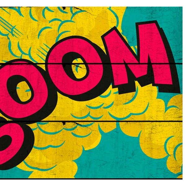 Placa Decorativa Dc Comics Big Boom Madeira