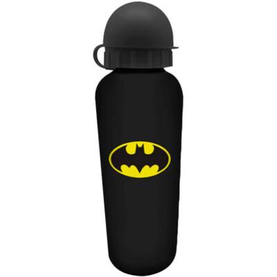 Squeeze Batman Logo Preto 500ml Aluminio
