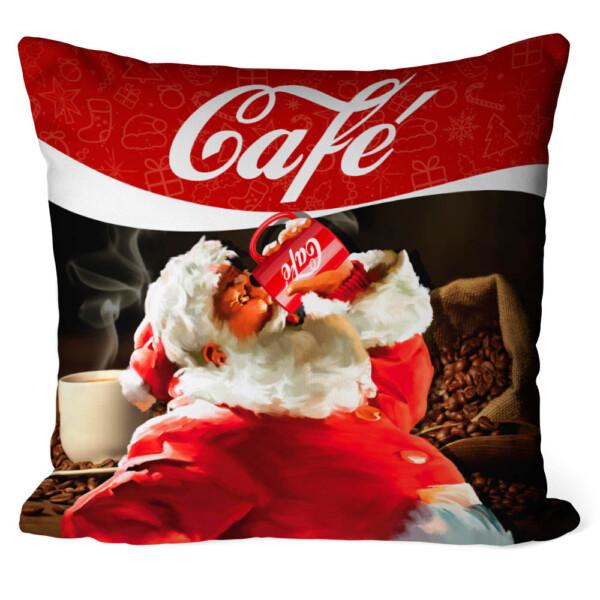 Almofada Natal Papai Noel Café Cola