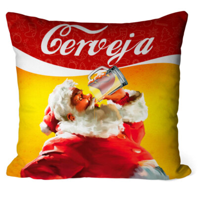 Almofada Natal Papai Noel Cerveja