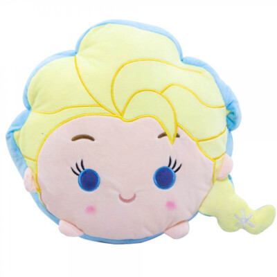 Almofada Rosto Elsa Tsum Tsum Frozen Fibra