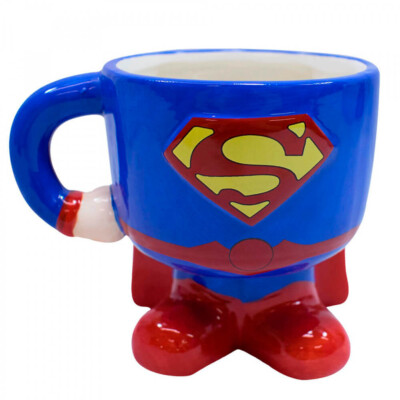 Caneca 3d Superman Porcelana 450ml