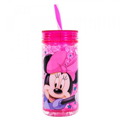 Copo Minnie Congelante Com Canudo 350ml
