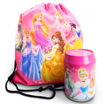 Lata + Mochila Saco Estampa Princesas