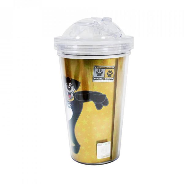 Copo De Plástico Botafogo Com Canudo 450ml