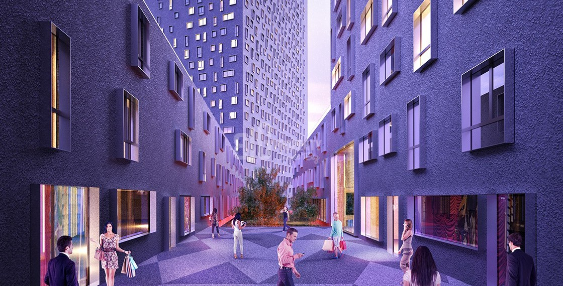 Deluxe flats for sale near to mall in Istanbul Bagcilar