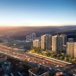 Quality apartments for sale with wonderful city view near to highway in Istanbul Maslak
