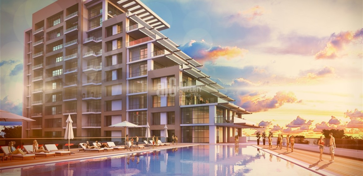 Big Terraca apartment with sea view for sale Buyukcekmece İstanbul