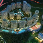 Luxury residantial apartments for sale with wonderful city view near to highway in Istanbul Kagithane