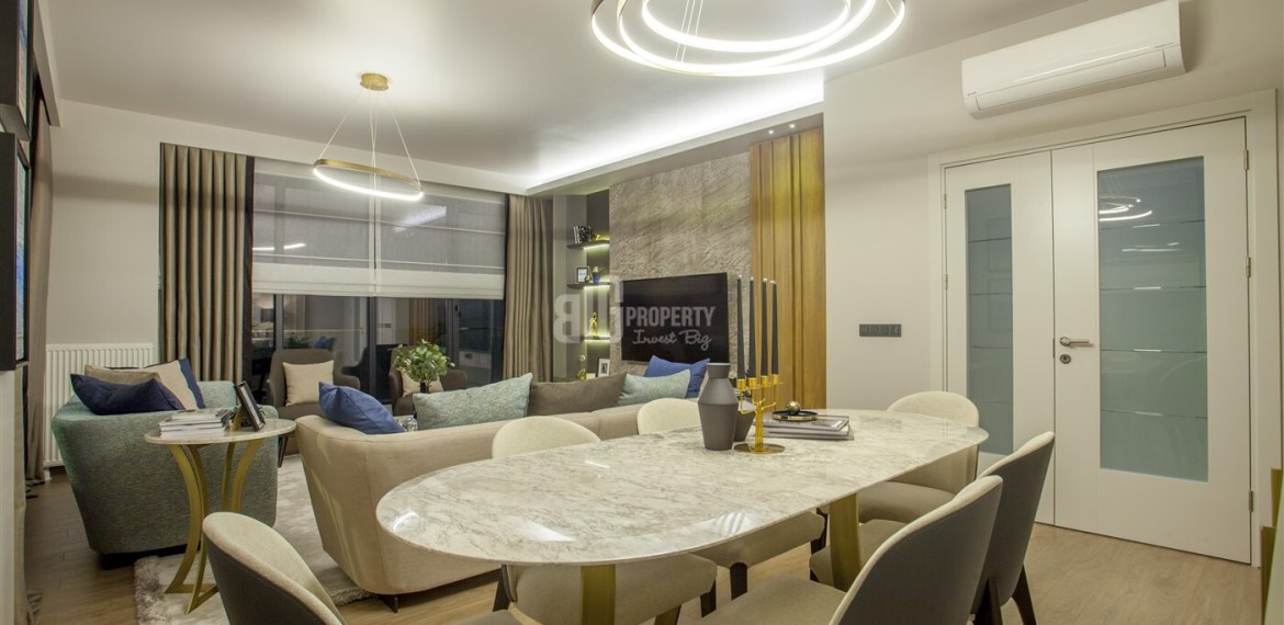 citizenship apartments Attractive payment plan opportunity lake view city center houses for sale Avcilar Istanbul