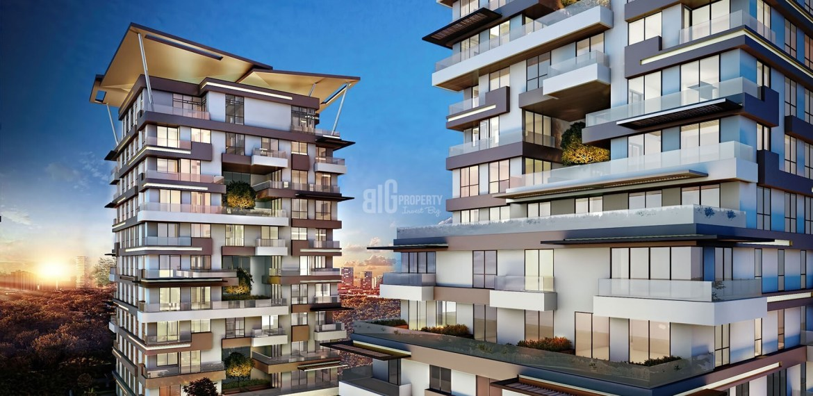 investig real estate with modern architectural in Kagithane İstanbull