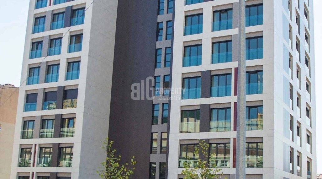 Citizenship one building apartments ready to move for sale Basaksehir Istanbul
