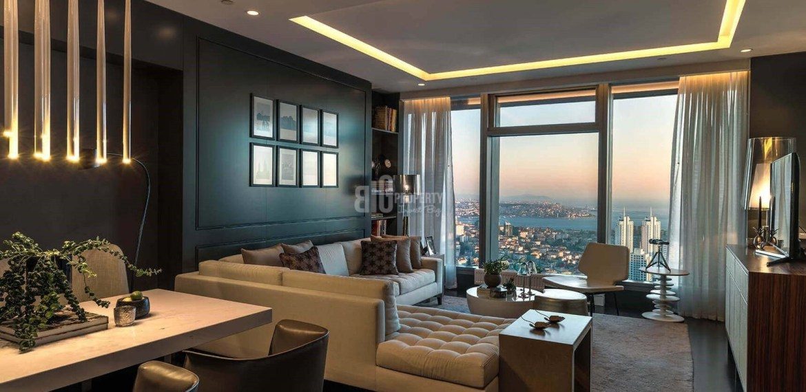 Ultra High Quality apartments for sale with horizon Bosphorus sea view in Istanbul sisli Mecidiyekoy