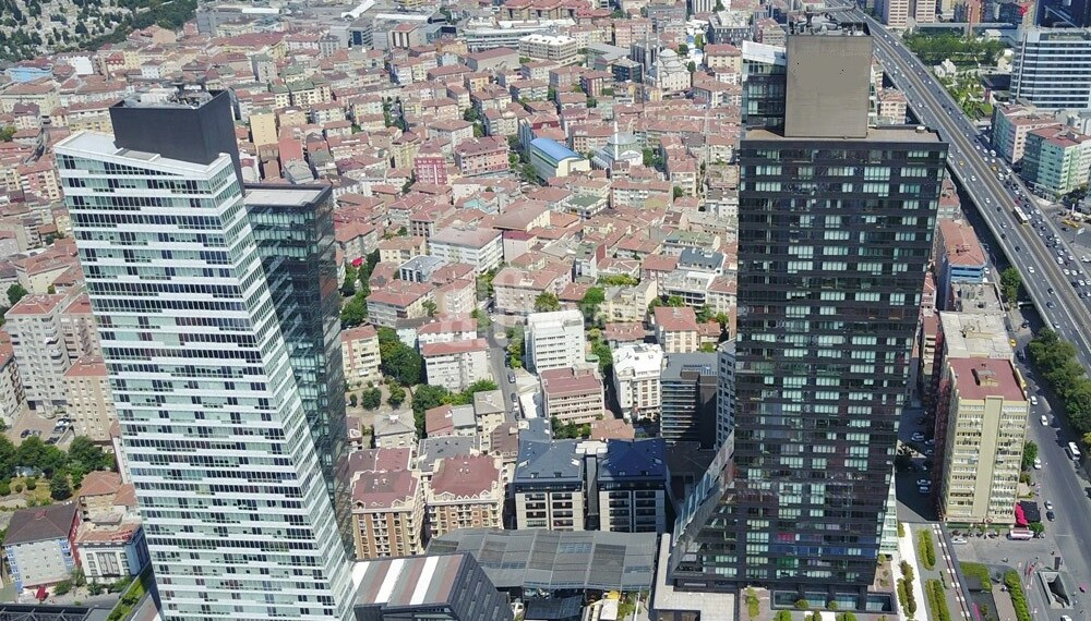 Trump Tower Luxury flats and offices with rental guarantee for sale in istanbul