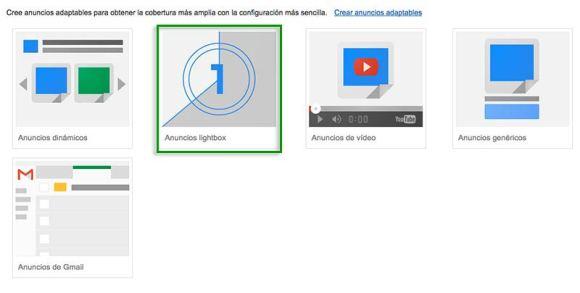 galeria de anuncios lightbox google adwords