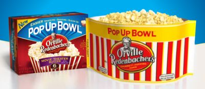 microwave popcorn bag that turns into