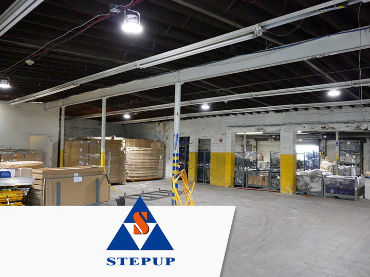 Situated in the central queens industrial district stepup scaffold houses a high number of valuable product on hand for any size project in the