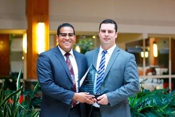 Eduard Rodriguez (left) and Bradley Harbison represented Big Shine Energy at Orange & Rockland's Contractor Recognition Awards