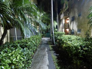 Big Shine LED residential area lighting for exterior walkways.