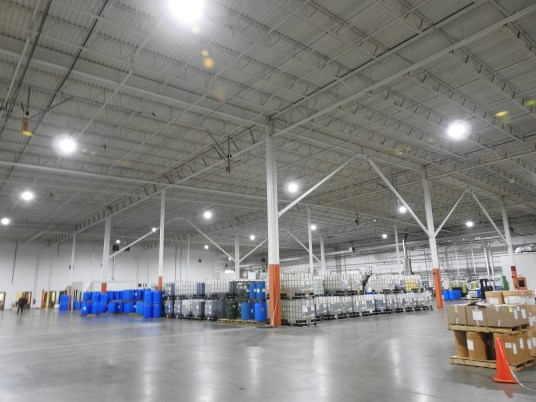 Clarendon Flavors facility after switching to LED