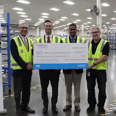 Big Shine Energy Celebrates Harmon Inc.'s Sustainability Achievement at Its Glen Burnie Facility