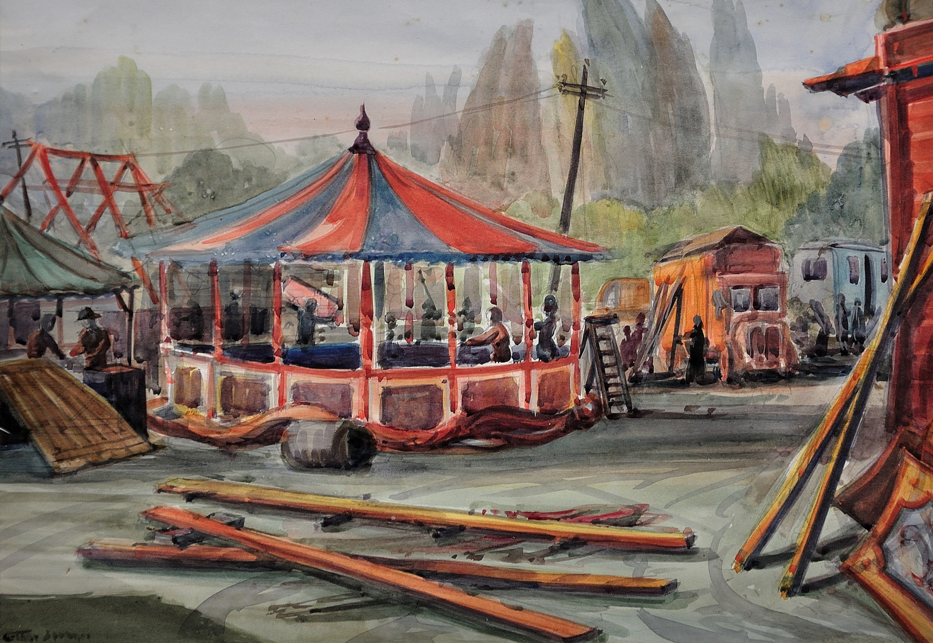 Arthur Spooner The Goose Fair Nottingham UK Based Online Full Service Art Gallery Supplying