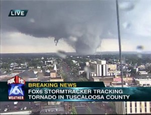 Tornado Strikes Tuscaloosa