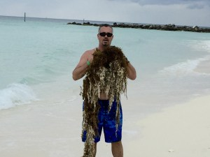 Beach Training, featuring chest hair, Freeport, Bahamas