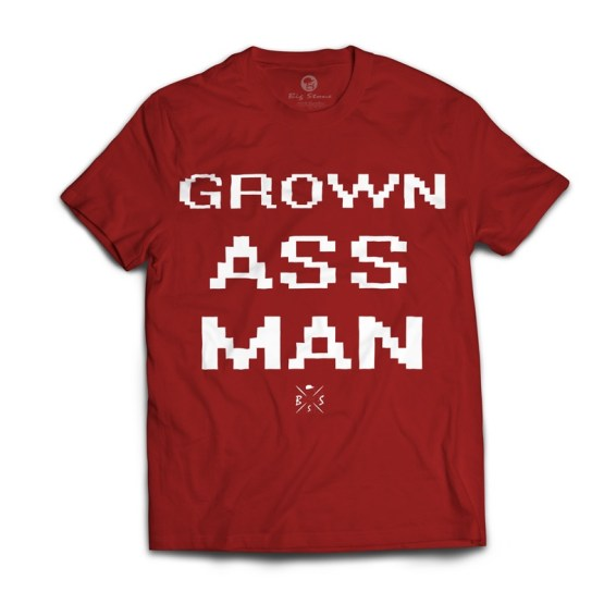 tricou-rosu-grown-ass-man-bigstone