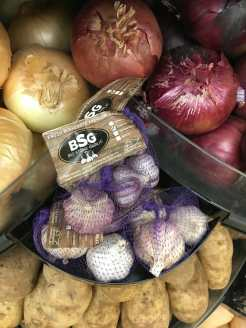 close up photo of our packaged garlic