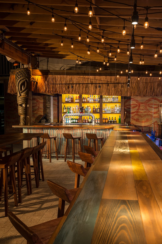 Tiki Bar At The Postcard Inn Bigtime Design Studios