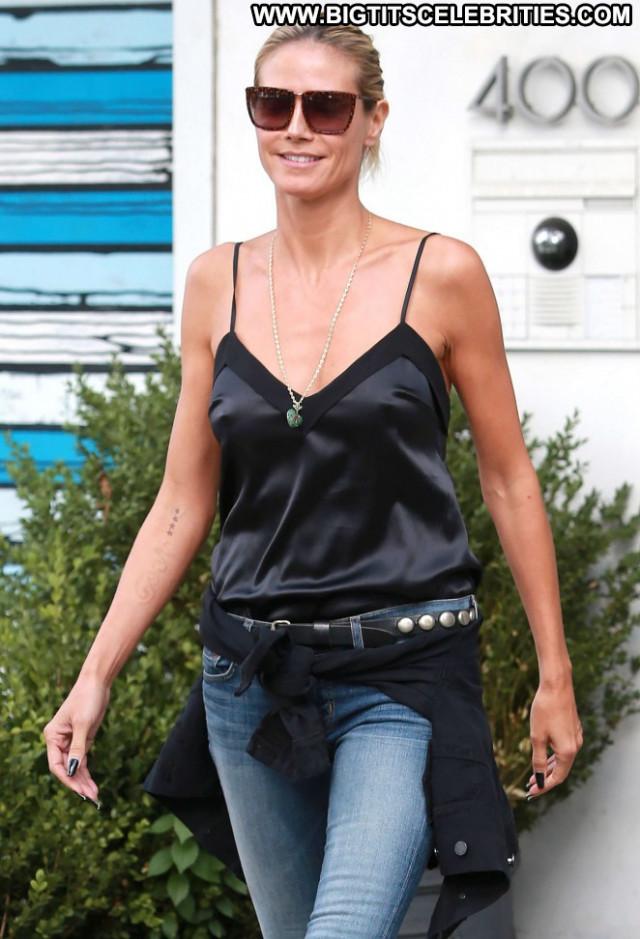 Heidi Klum Beautiful Posing Hot Paparazzi Nyc Babe Celebrity Jeans
