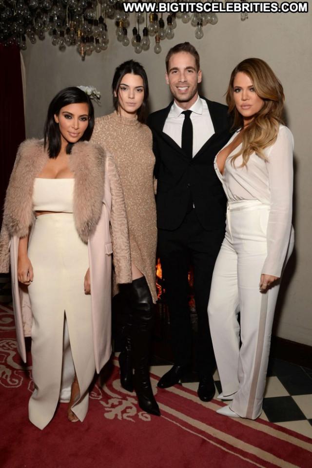 Kim Kardashian Babe Beautiful Party Celebrity Paparazzi Posing Hot