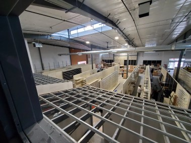 Inside construction at the new Parker Big Tool Box